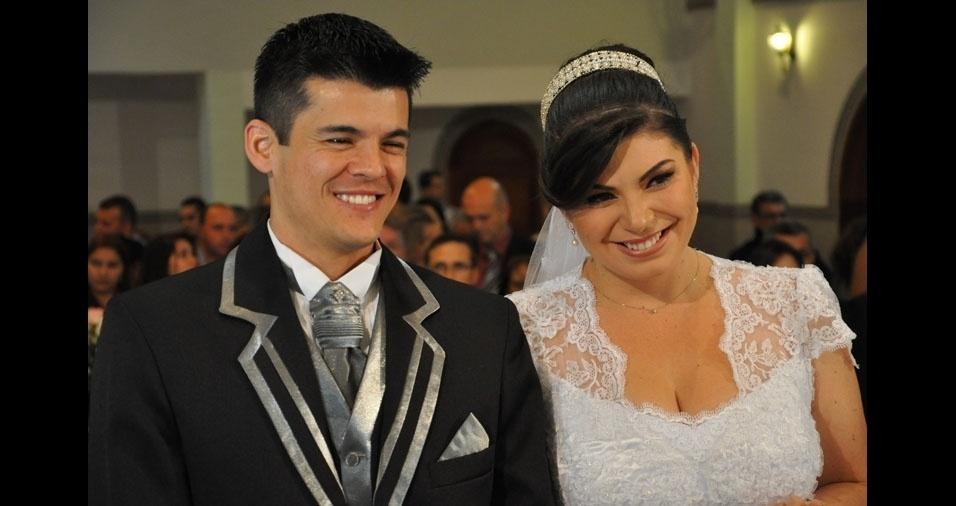 Eliane Cristina e Marcelo Rodolpho casaram-se em 5 de outubro de 2013