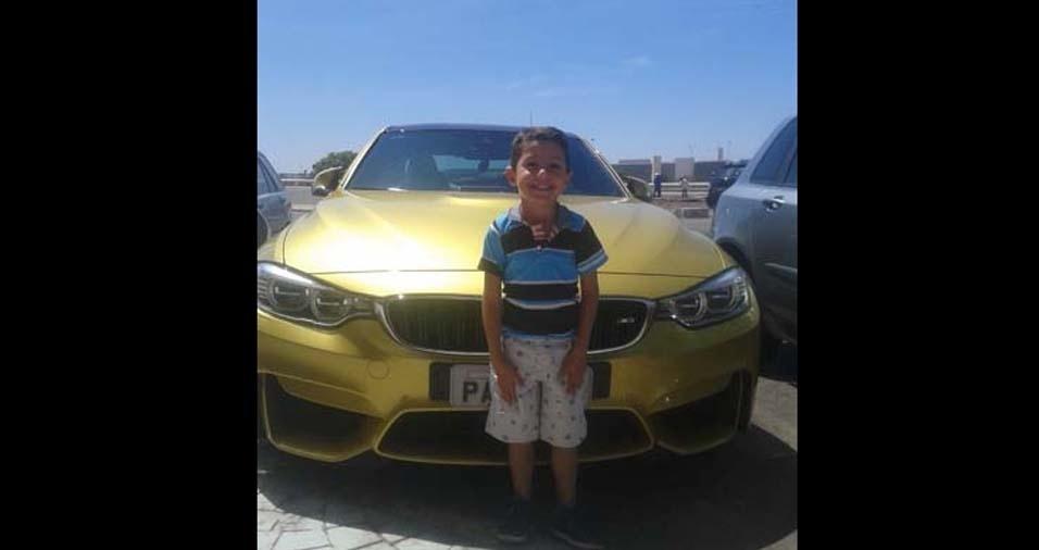 O pai Darlan, de Brasília (DF), enviou foto do filho Nicollas