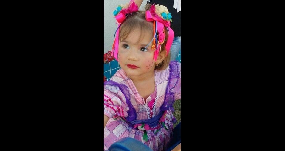 Aline Maiara Fonseca Antunes, de Brumadinho (MG), enviou a foto da caipirinha Pietra Gabrielly, de três anos
