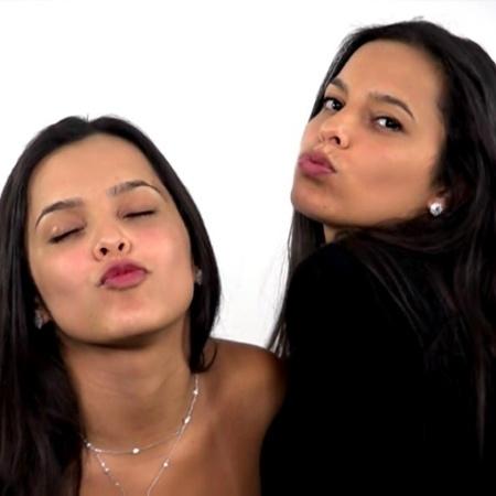 As gêmeas Emily e Mayla - Reprodução/TV Globo