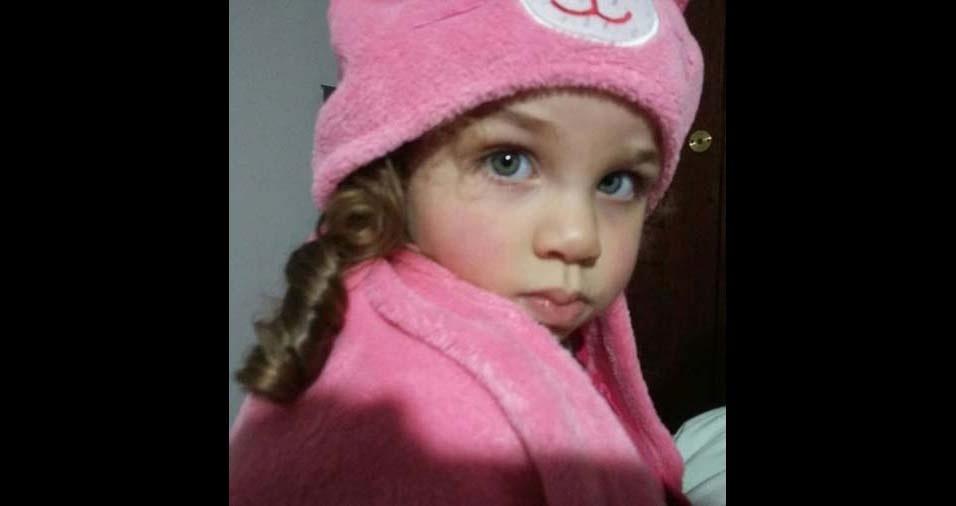 Fernanda e Leandro, de São Paulo (SP), enviaram foto da filha Rafaela