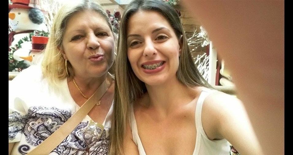 Mamãe Tânia Maria com a filha Luana Rodrigues, de Mauá (SP)