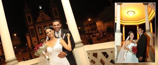 Anisio José dos Santos e Cleonice de Carvalho Santos casaram-se no dia 26 de abril de 2014, na Igreja Nossa Senhora da Piedade, em Lagarto (SE)