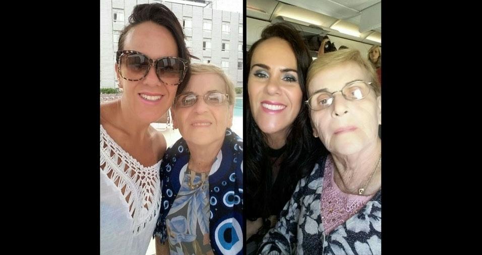 Maria Lúcia Mascarenha com a mãe Aparecida Magni Mascarenha, de São Paulo (SP)