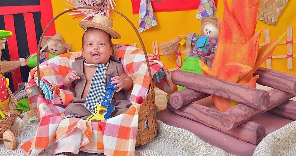 Anthony Cauã do Nascimento, de Natal (RN), em foto enviada pela mamãe Tatianne Carolinne