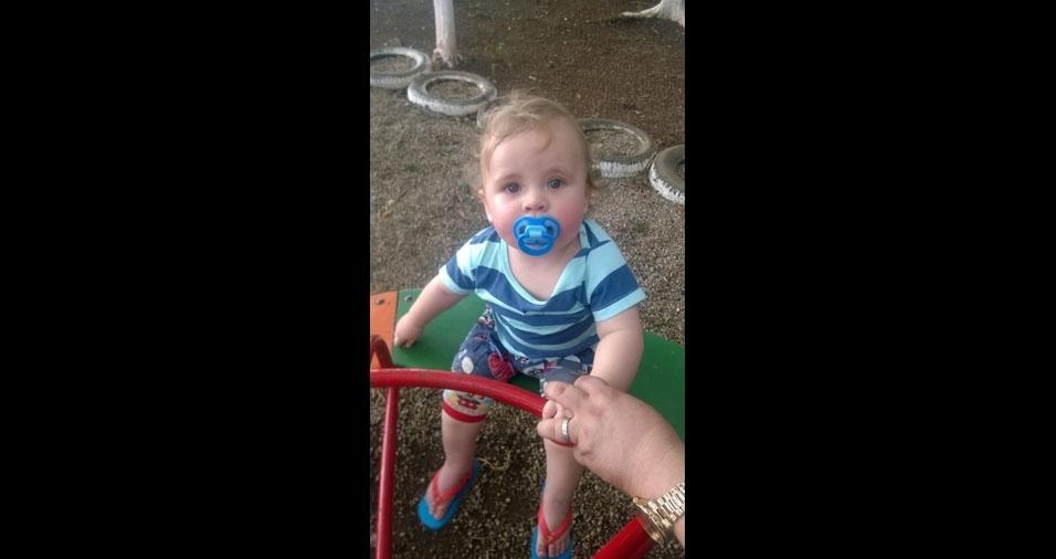 Emanuel Vicente, um ano, é o filho da Danila G. Vieira, de Curitiba (PR)