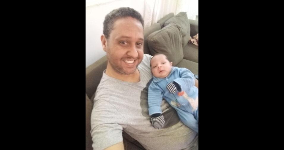 """De Belo Horizonte (MG), o Anderson Correa dos Santos Machado comemora o primeiro Dia das Crianças do filho Lorenzo Enrico: """"A mais nova alegria da casa"""""""