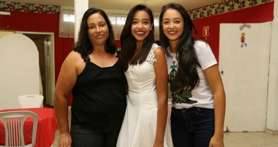 Marli Igino com as filhas Milene e Marcela, de Três Pontas (MG)