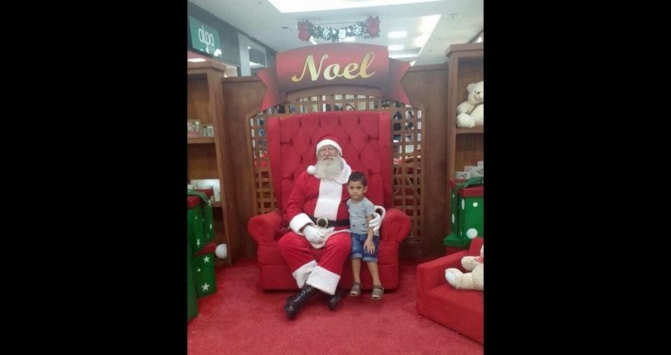 """Welison dos Santos Santana, de Cosmópolis (SP) - """"O Enzo Gabriel tratou logo de ir pedir seu presente para o Papai Noel"""""""