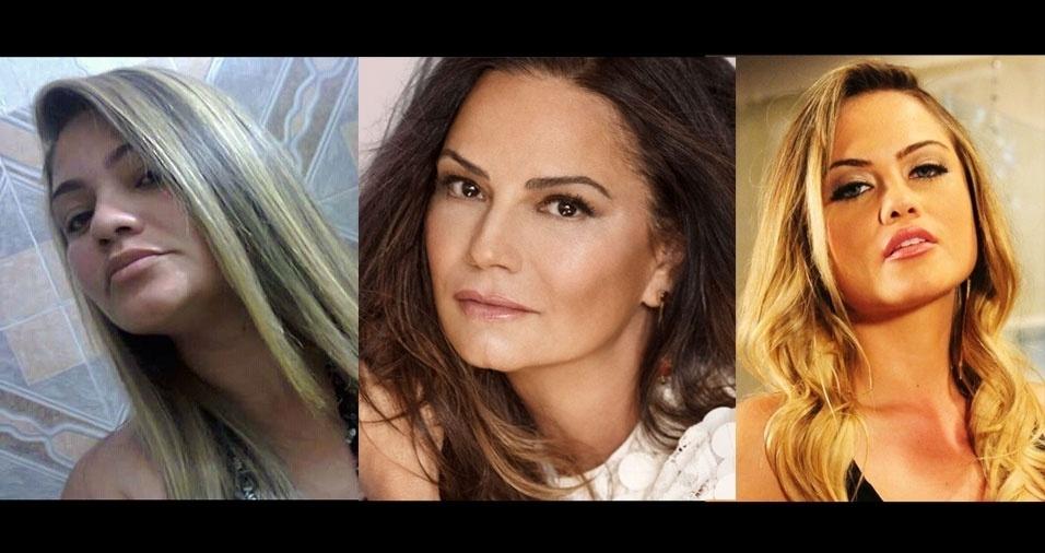 Francineide do Carmo Cruz, de Tucuruí (PA), diz que a acham parecida com as atrizes Luiza Brunett e Ellen Roche