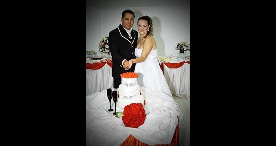 Lorena Trabuco e Fábio se casaram em 2013