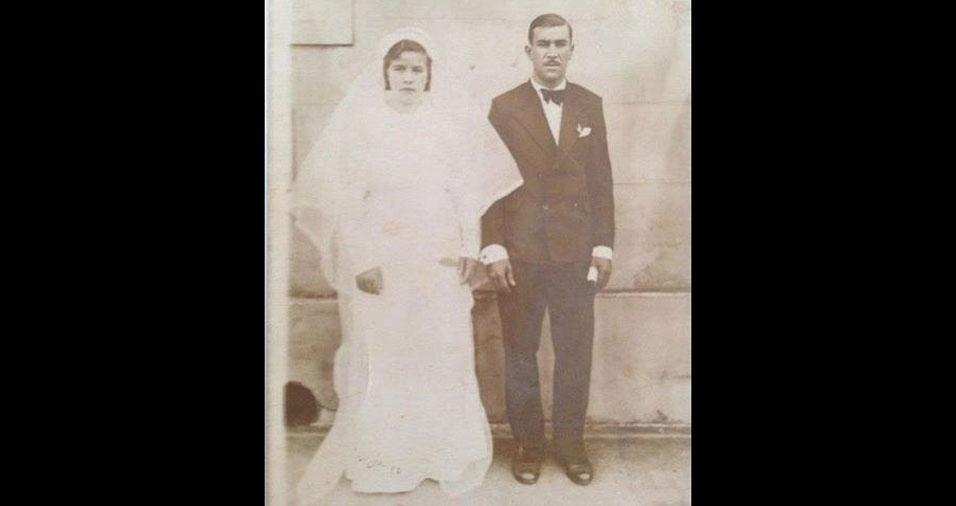 Antenor José de Bastos e Ambrosina Alves se casaram em Jacarezinho (PR)