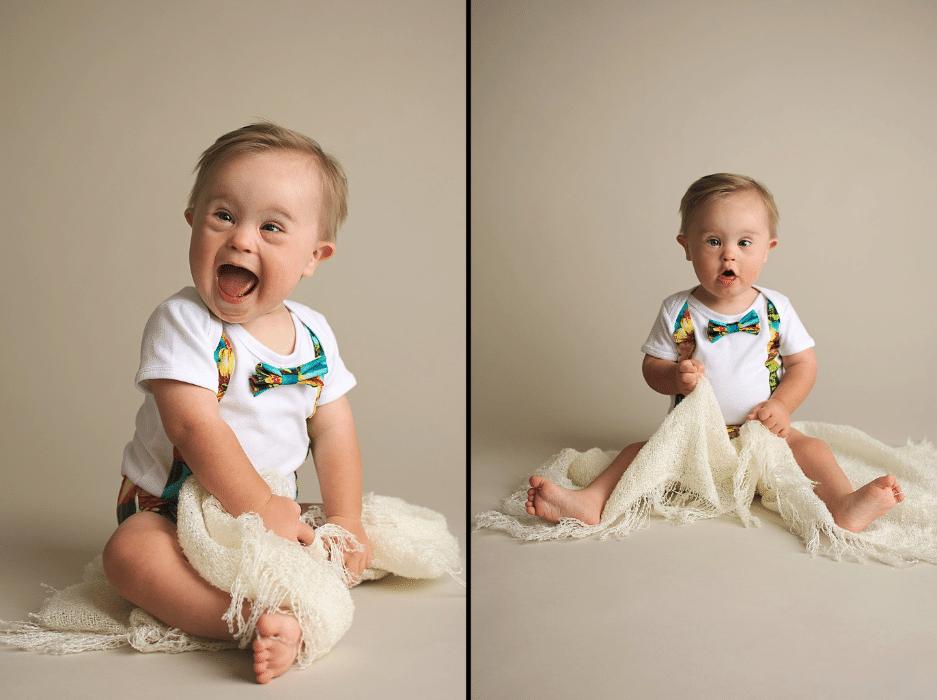 1°.nov.2016 - Agência não encaminhou as fotos de Asher Nash para a marca de roupas. Consultada por Meagan, a mãe do menino, a agência respondeu que a cliente não havia solicitado fotos de crianças com necessidades especiais