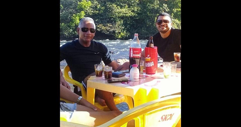 Itallo com o pai José Antônio, de Natividade (TO)