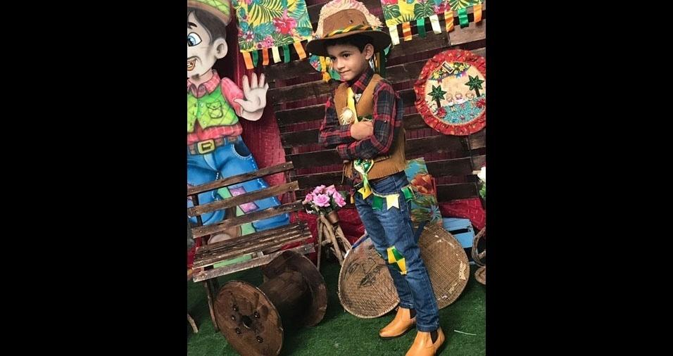 Magda Nunes dos Santos, de Aracaju (SE), enviou foto do filho Kainan Santos, de seis anos