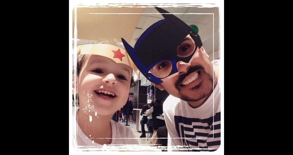 Papai José com a filha Barbara, de São Paulo (SP)