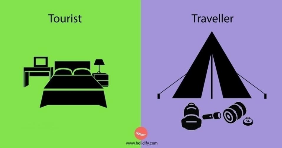 10.set.2015 - Quarto de hotel? Não! O viajante prefere dormir em uma barraca