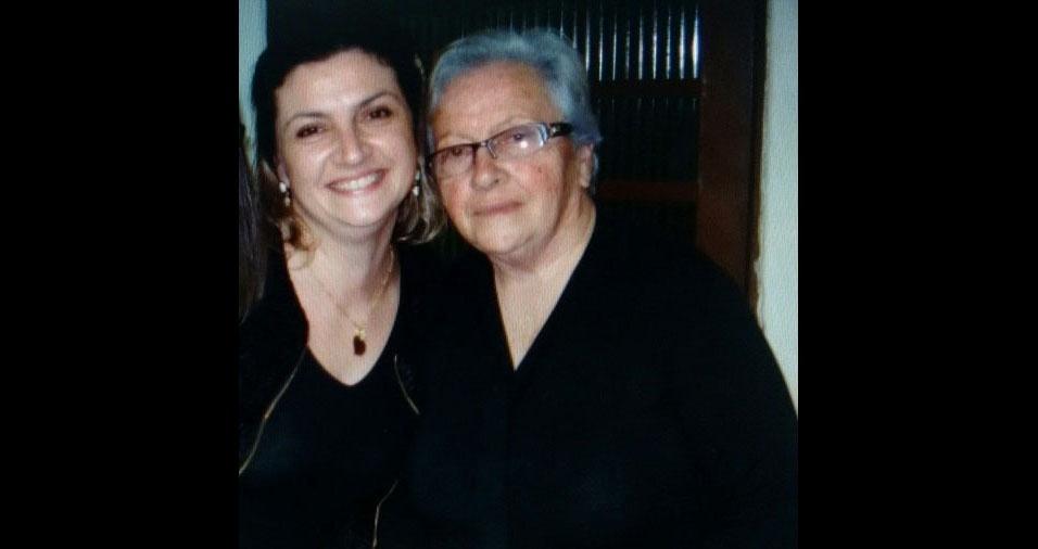 Raquel Machadocom a mãe Brígida Machado, de Charqueadas (RS)