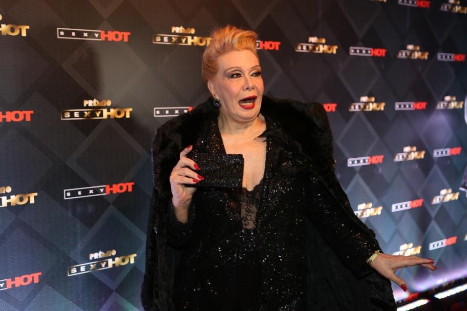 28.jun.2016 - Rogéria marca presença na entrega do Prêmio Sexy Hot, conhecido como o Oscar da Indústria Pornô. O evento, organizado pelo canal Sexy Hot, acontece em São Paulo