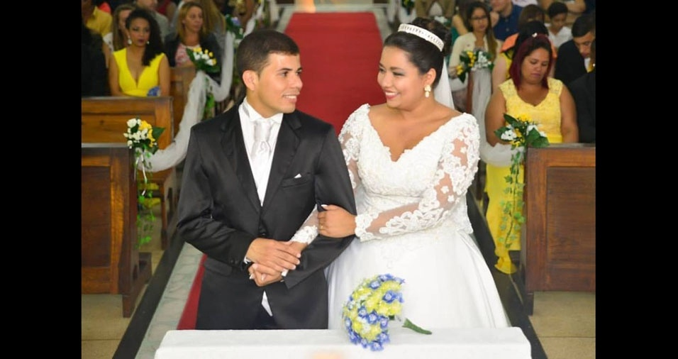 Os noivos Samara e Igor se casaram em 21 de maio de 2016, em Resende (RJ)