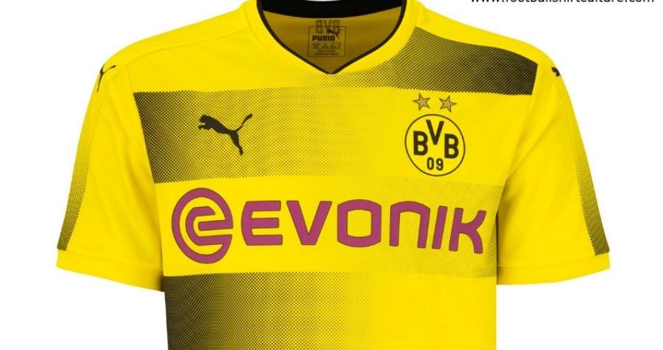 20. Borussia Dortmund - Os aurinegros também modificaram bastante seu uniforme para a próxima temporada, utilizando o degradê
