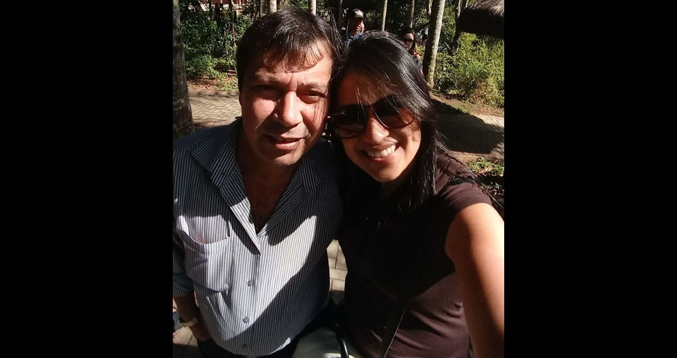 """Pamela com o papai Adalberto, de Guarulhos (SP), """"Grande pai, carinhoso, protetor e dedicado. Amo muito."""""""