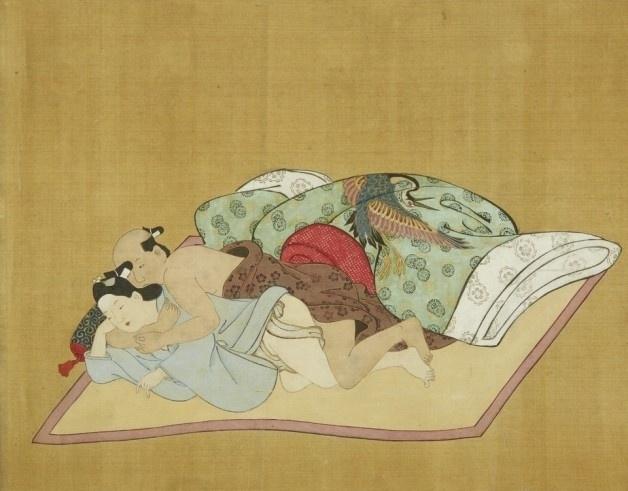 13.abr.2016 - A casa de leilões Bonhams trouxe à tona, recentemente, uma série de desenhos eróticos criados no Japão no século XVII. As imagens criadas por Miyagawa Choshun vinham sendo escondidas do público desde a década de 70