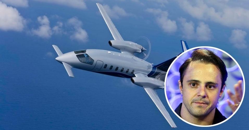 8. O piloto Felipe Massa vai de um GP a outro a bordo de um Piaggio P180 Avanti II, bimotor executivo fabricado na Itália para até nove passageiros. Tem autonomia para 2,9 mil quilômetros. Valor estimado: US$ 6 milhões