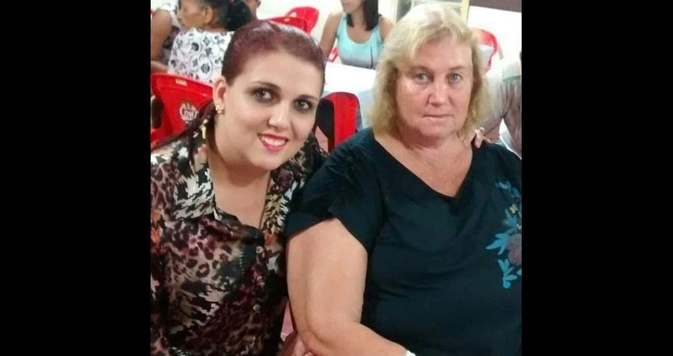 Fabiana Porfirio de Lima com a mãe Ana Maria Ribeiro de Lima