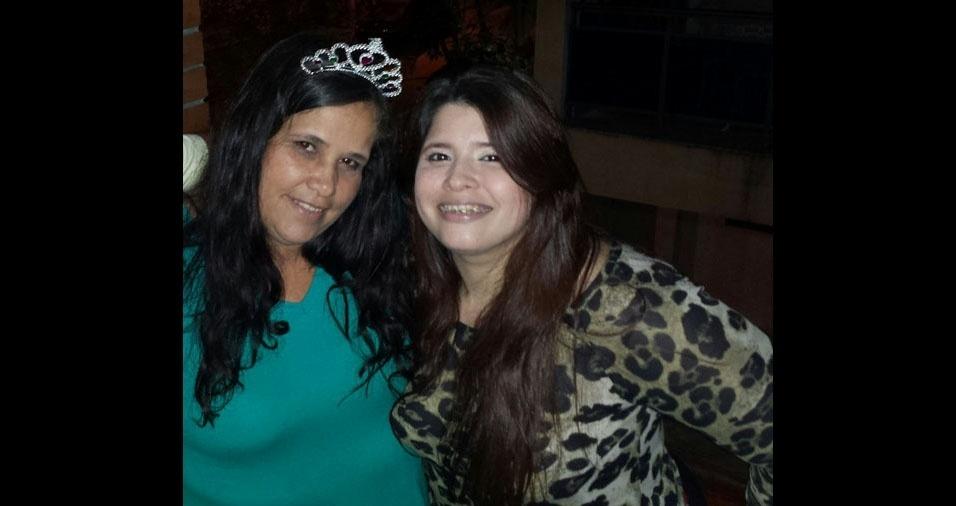 D?bora Gomes Da Silva Armond com a mãe Lucilene Vieira Pereira da Silva, de Rio de Janeiro (RJ)