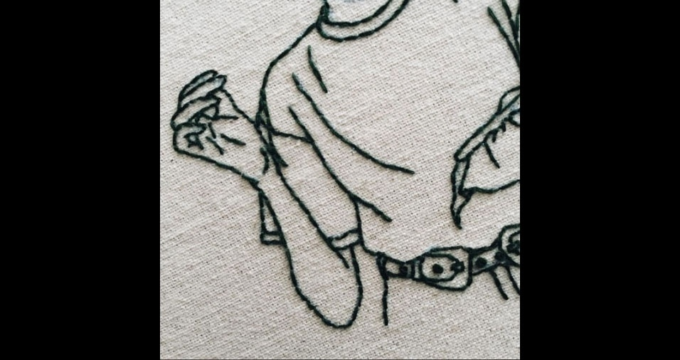 12. Detalhe de bordado da artista Sheena Liam