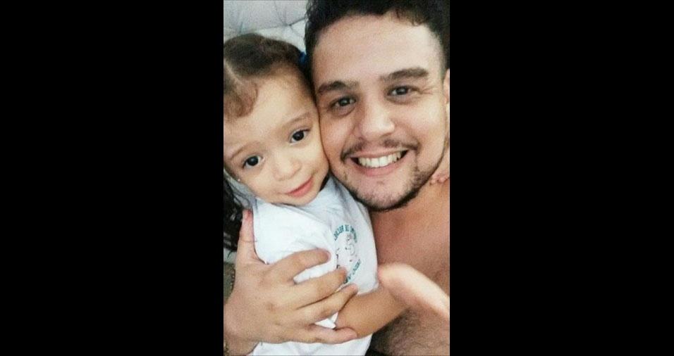 Otávio e sua filha Isabella, de São Bernardo do Campo (SP)