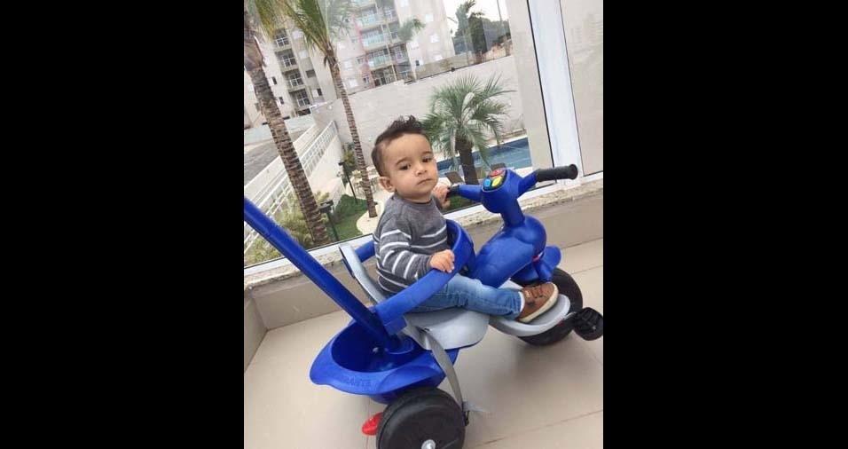 O pai Vitor Heleno enviou foto do filho Enrico, de Americana (SP)