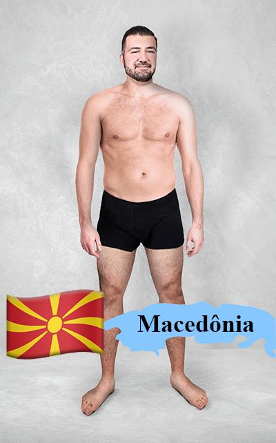 18.fev.2016 - O site Superdrug.com pediu para designers gráficos de 19 países diferentes editarem uma foto de uma pessoa com um físico normal nos Estados Unidos de acordo com os padrões locais. O resultado acima veio da Macedônia