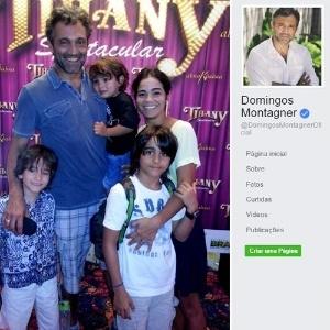 O ator com a esposa e os filhos; família já está sendo amparada pelo Grupo Globo  - Divulgação/Reprodução/Facebook