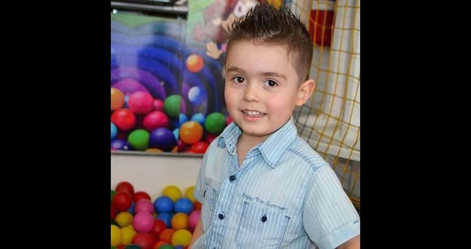 Aline, de São Paulo (SP), enviou foto do filho Diogo, de quatro anos