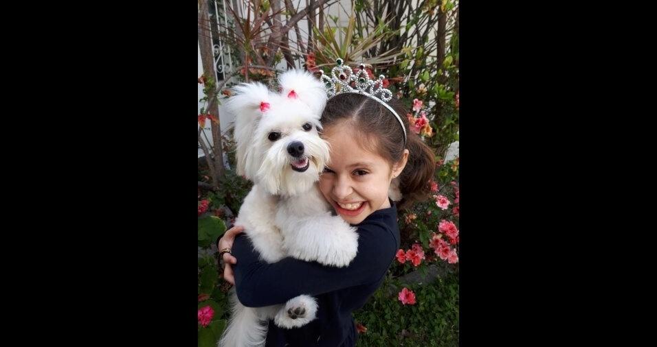 Milena, filha da Ana Lidia Andrade, com a companheira Lola. Elas são de Taubaté (SP)