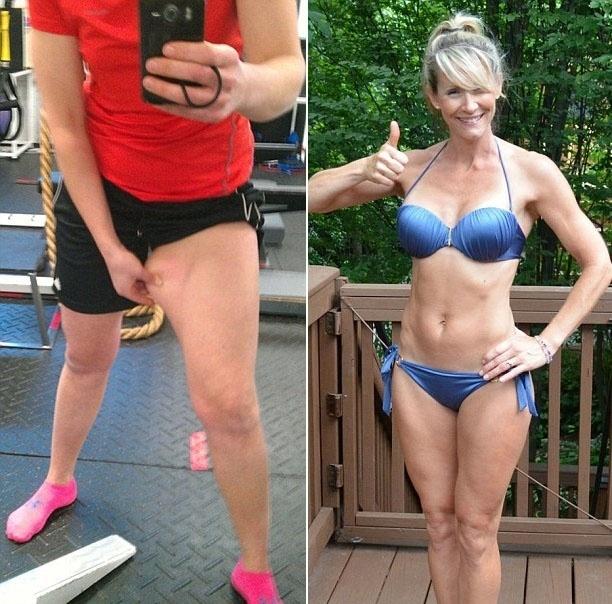 27.jan.2016 - Elsbeth Vaino, foto à esquerda, e Holly Rigsby, à direita, também fizeram parte no desafio 'Ame o seu corpo'