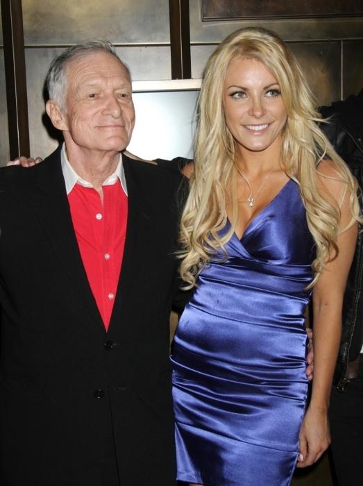 Hugh Hefner e sua esposa Crystal Harris