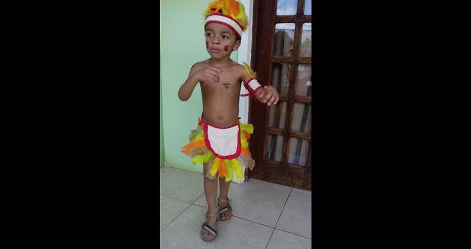 Irany, de Teodoro Sampaio (BA), mandou uma foto do filho Ikaro, de três anos