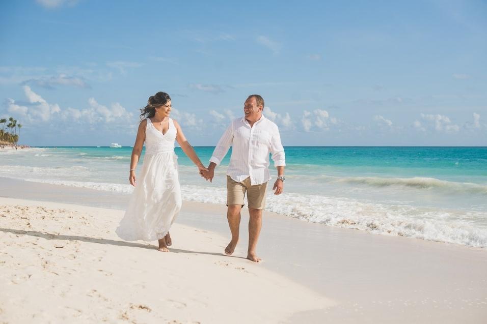 Beatriz Lima Dias e Edegar Sosa Mazzoni realizaram sua boda em março de 2018, em Punta Cana, na República Dominicana