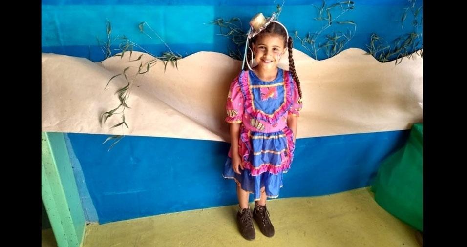 Yasmin Frota Gama Fernandes, de Cotia (SP), em foto enviada pela mamãe, Vanessa Frota Gama