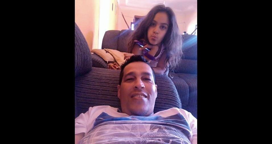 Sophia e o papai Kleber, de Recanto das Emas (DF)