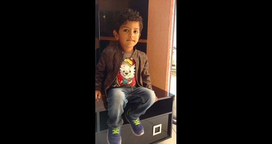 Maria Aparecida, de Itaquaquecetuba (SP), enviou foto do filho Lucas