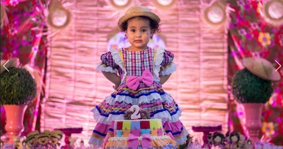 Maria Jéssica Azevedo da Silva enviou a foto da filha Lívia Cordeiro Gomes de Azevedo, de dois anos, da cidade de São Caetano da Raposa (PE)