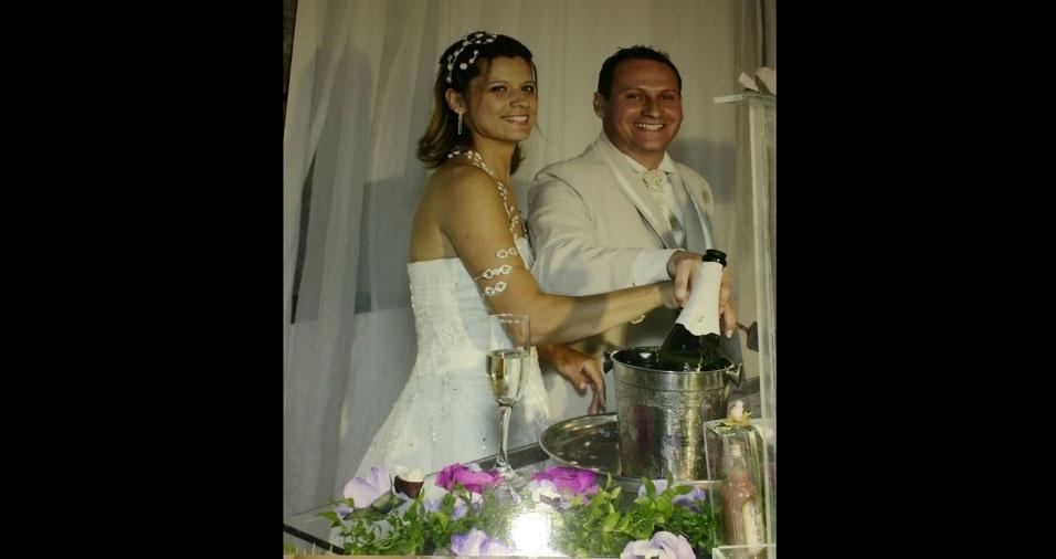 Luciléia Xavier e Fabiano Xavier se casaram em 27 de novembro de 2010, na Basílica do Senhor Bom Jesus de Iguape