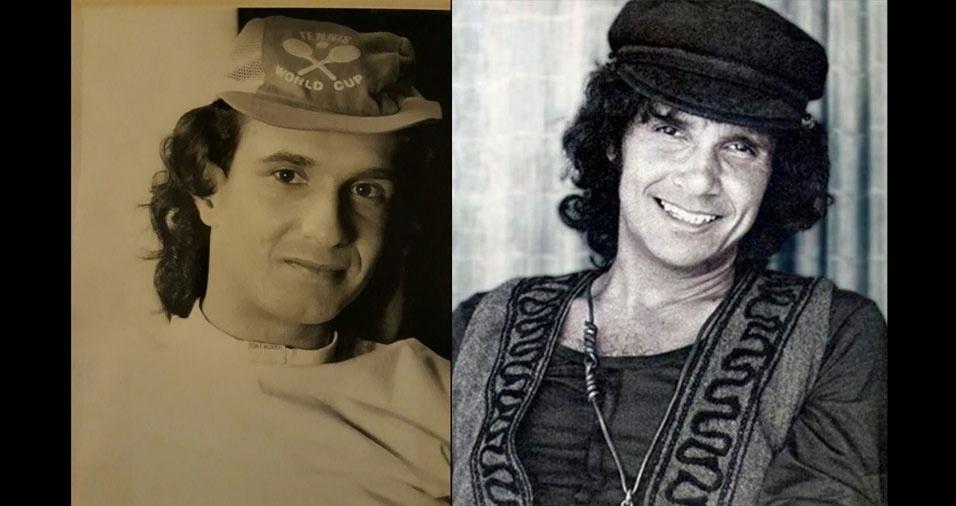 """Sérgio César Milagre, de São Paulo (SP), declara: """"Todos falam que, nesta foto de quando eu era mais jovem, pareço o Roberto Carlos jovem."""""""