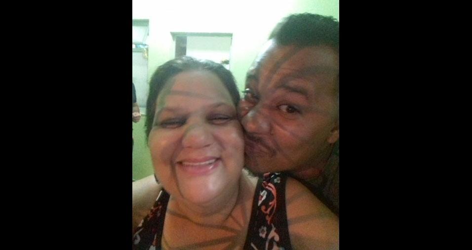 Diego Lima Sampaio com sua mamãe Auzilene Sampaio, de Deodoro (RJ)