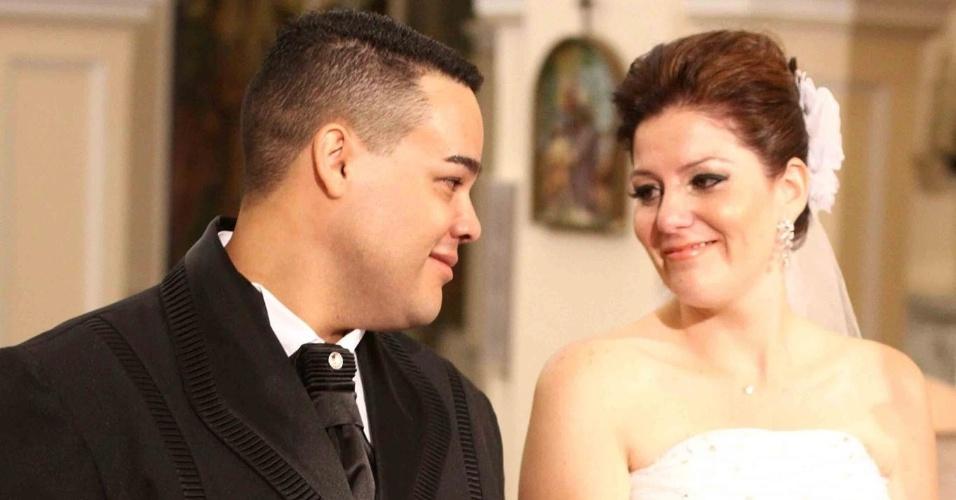 Vivian R. Torelli da Cunha e Marcos Leandro da Cunha se casaram no dia 26 de fevereiro de 2011, na Catedral Metropolitana de Sorocaba (SP)