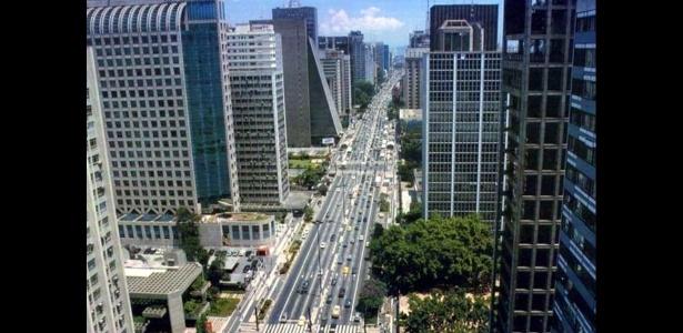 Imagem panorâmica da avenida Paulista, em São Paulo - Reprodução/UOL
